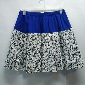 Anthropologie Postage Stamp skirt Size small